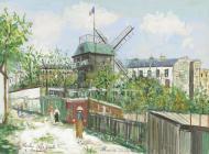 """El Moulin de la Galette"""" (1908), gouache de Maurice Utrillo."""