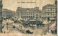 Café Terminus. Estación de Saint-Lazare (el Terminus, a la izquierda), 1900.
