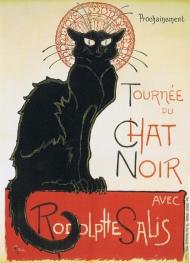 Cartel publicitario de Le Chat Noir (1896), obra de Théophile-Alexandre Steinlen.