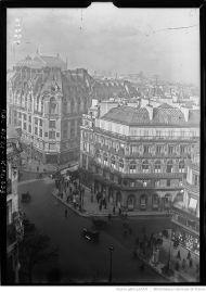 Vista de la Maison Dorée desde el tejado de la Opéra-Comique (1923).