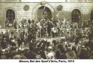 Quat'z'Arts. En el patio de la Escuela Nacional Superior de Bellas Artes el día del desfile (1913).