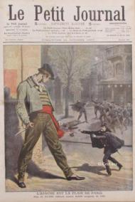 """Portada de la revista """"Le Petit Journal"""" de 1907. """"El apache es la plaga de París"""", dice la leyenda."""