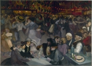 """""""Bal du 14 juillet"""" (1885), óleo de Théophile Steilen"""