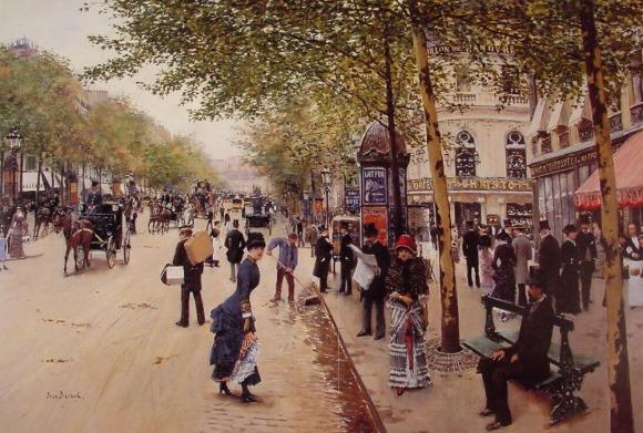 Jean Béraud. Boulevard des capucines, 1875.