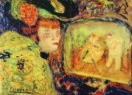El Divan Japonais (1901), acuarela de Pablo Picasso.