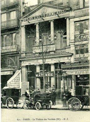 El Théâtre des Variétés en 1900.
