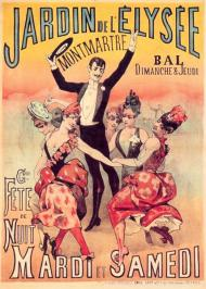 Afiche de finales del XIX del Élysée Montmartre.