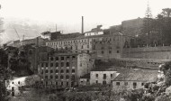 Conjunto de edificios industriales de El Salt a inicios de siglo XX.
