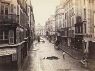 Antigua calle de Constantine en la isla, sobre 1865. F: Charles Marville.