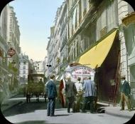 Paris en 1900, escena callejera sin identificar.