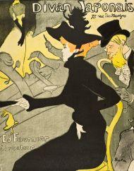 """Jane Avril en el Divan Japonais"""" (1892-1893), litografía de Toulouse-Lautrec"""