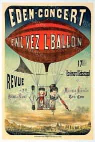 El Eden Concert. Poster de 1884.