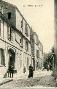 Calle de Cortot sobre 1900.