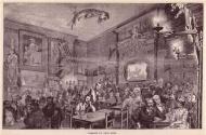 El primer piso de Le Chat Noir, donde se proyectaba el famoso teatro de sombras.