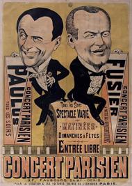 Afiche del Concert Parisien, 1885.
