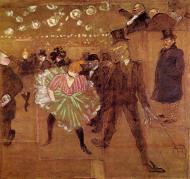 """""""La Goulue y Valentin le Desossé"""" (1895), óleo de Toulouse-Lautrec."""