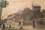 Calle Des Abbesses, donde estaba Le Moulin de la Galette, a finales del siglo XIX.