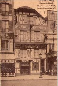 Fachada de Le Chat Noir del Boulevard de Clichy.