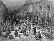 East End. Dudley Street (Londres) en 1872. Grabado de Gustave Doré.