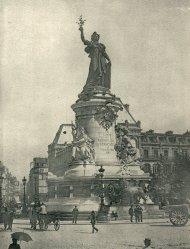 Estatua de la República, sobre 1890.