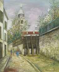 Calle De la Bonne. Óleo de Maurice Utrillo, década de 1910.