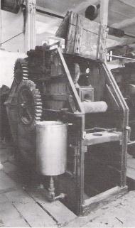 Batán utilizado en Alcoi en el siglo XIX.