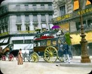 Omnibus en en 1900, línea Montmarte-Saint-Germain-des-Prés.