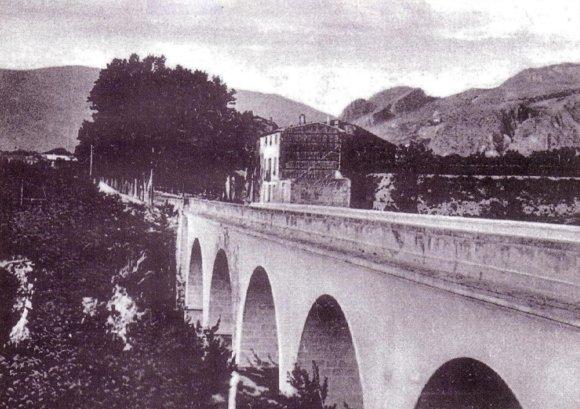 Puente de Benisaidó o de la 'Petxina' a comienzos del siglo XX.
