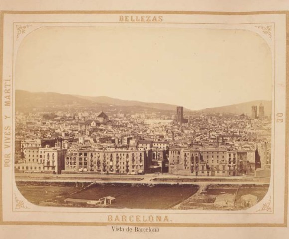 Vista de Barcelona en 1874.