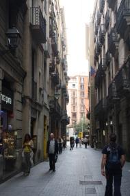 Calle de la Canuda (pensión Samuel) en la actualidad. Foto: David Barber.