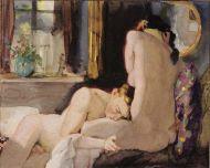 """Samuel y La China (""""Amantes"""", 1933. Konstantin Somov)."""