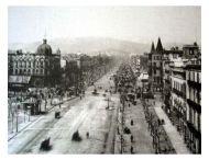 Lugar del cabaret de Samuel (Paseo de Gràcia, Barcelona, foto ca. 1890).