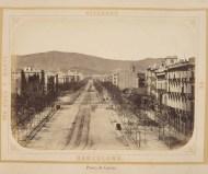 Barcelona 1874. Paseo de Gràcia.