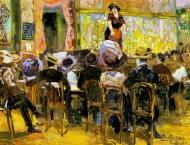 """Cafetín (""""Café cantante en París"""", 1911. Richard Bloos)."""