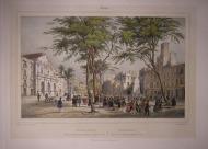 Barcelona. La rambla y el gran Teatro. Chapy, 1844.