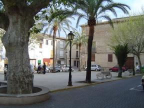 Casa palacio del señor territorial, en la actual plaza Palacio.