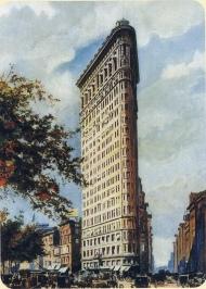 El Flatiron. Acuarela de Daniel H. Burnham, 1904.