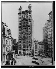 El Park Row Building en 1912.