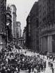 Rascacielos de Broad Street mirando hacia el norte, hacia Wall Street, 1903.