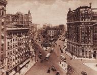 Broadway y Amsterdam Avenue en la calle 72, Nueva York.