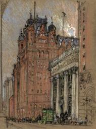 El Waldorf Astoria en su emplazamiento original, 1904.