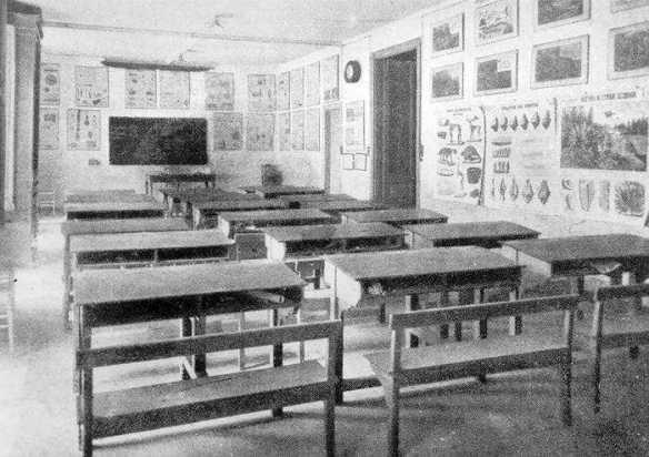 Aula de l'Escola Moderna de Barcelona
