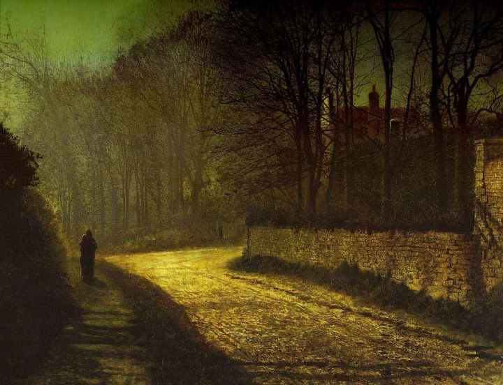 Bes. Grimshaw, John Atkinson - The Lovers, 1874