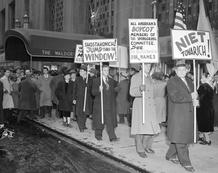 Protesters Outside the Waldorf Astoria