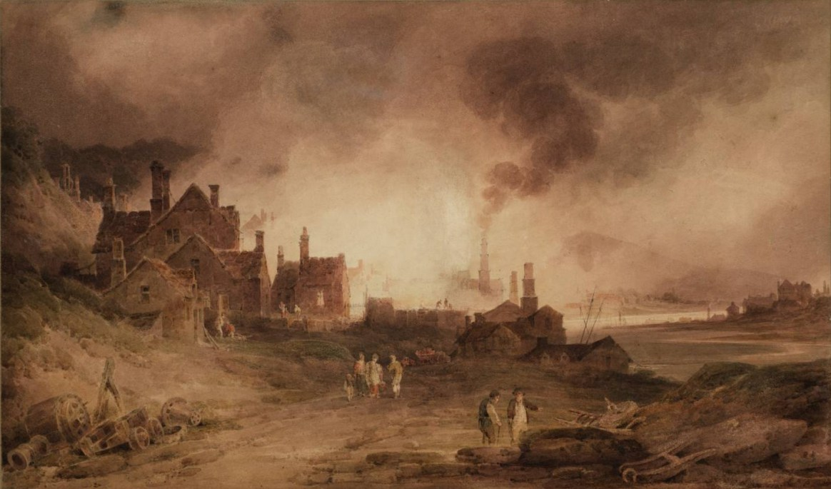 Bedlam Furnace, Madeley Dale, Shropshire 1803 by Paul Sandby Munn 1773-1845