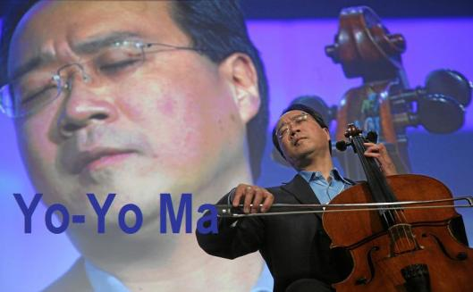 Presentation of the Crystal Award: Yo-Yo Ma
