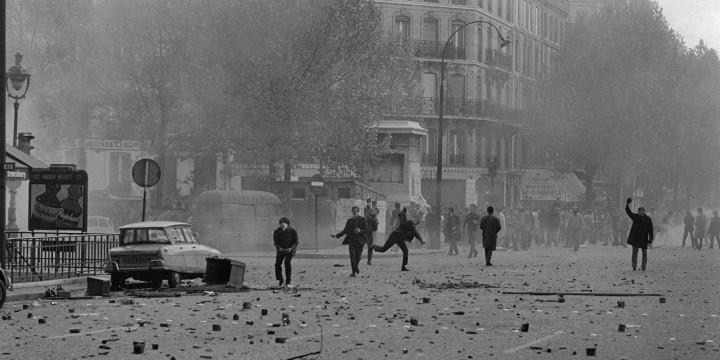 Manifestations. 6 mai 1968. Photographie