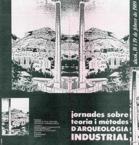 Folleto anunciador de las 'Jornades sobre teoria i mètode d'arquelogia industrial'.
